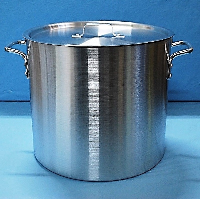 Gaganis Aluminium Stock Pot with Lid: 8 litres