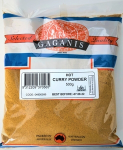 Gaganis Curry Powder Hot 500g